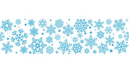 płatki śniegu bezszwowe tło wektor