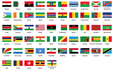 All National Flags Of Africa