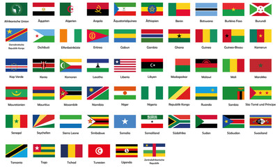 All National Flags Of African Union