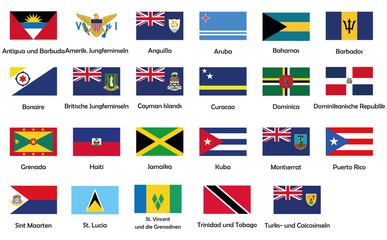 All National Flags Of Caribbean