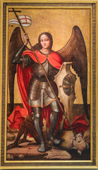 Saint Michael the Archangel slaying Satan