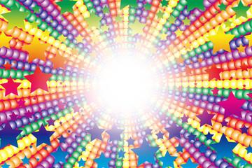 背景素材,カラフル,放射,集中線,虹色,レインボーカラー,打上花火,スターマイン,楽しい,パーティー