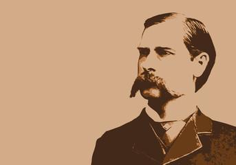Wyatt Earp - portrait - Marshall - personnage - historique - célèbre - Chasseur - américain