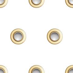 Golden Eyelet Seamless Pattern