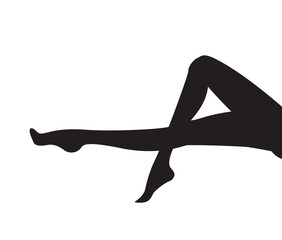 pinup woman legs silhouette