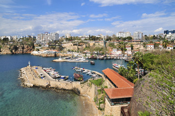 The ancient port of the old city of Antalya