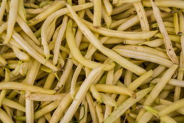 Yellow beans in market