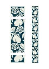 seamless decorative ornamental border with pear