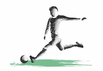 calciatore che si allena