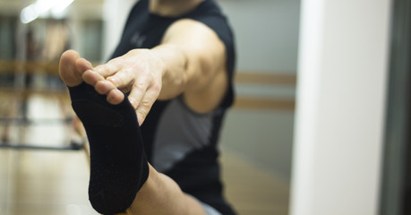 Pilates ballet bar stretching