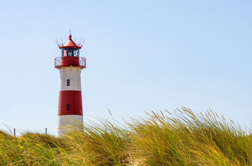 Beautiful Lighthouse List-Ost - A Lighthouse on the island Sylt