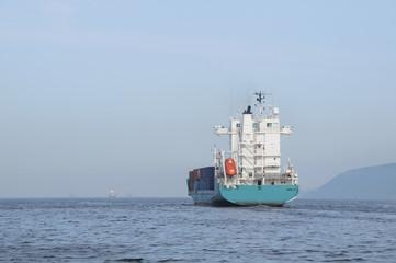 Açık Denizde Yük Gemisi