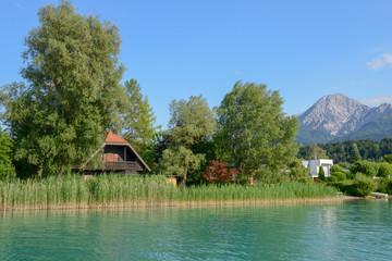 Rural house at lake Fakkar on Carinthia, Austria