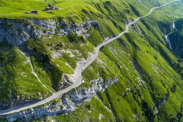Switzerland, Canton of Uri, Glarus Alps, Schaechental, Klausen Pass