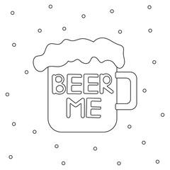 Beer me poster.