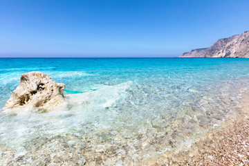 White rock in a turquoise sea