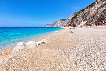 Untouchable wild island beach