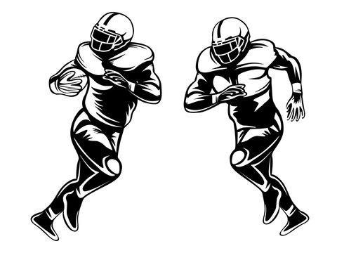 American football player. Quarterback isolated on white. Super sport theme vector illustration.