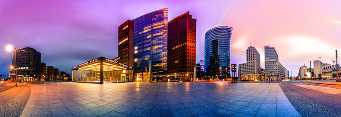 Acrylic Prints Europa The Potsdammer Platz in Berlin, Germany