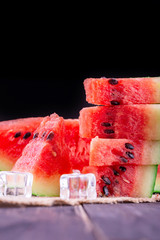 watermelon on wooden background
