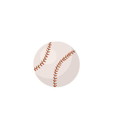 Hand drawn baseball ball isolated on white background. Vector illustration.