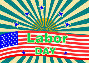 American Labor Day background ,vector illustration.