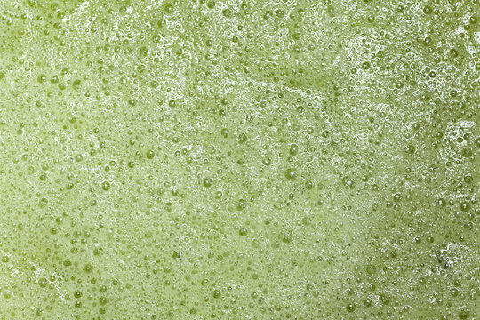 green organic texture of vegetable smoothie