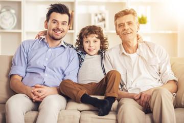 Happy Generation of Three Men.