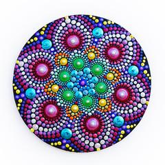 beautiful mandala hand painted