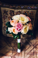 Colorful isolated bridal bouquet for a wedding