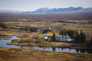 icelandic landscape in autumn