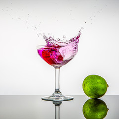 Verre de cocktail splash