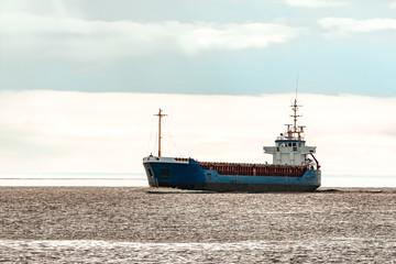 Blue bulk carrier