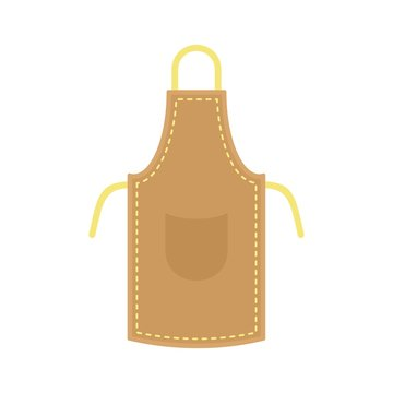 Leather apron icon. Flat illustration of leather apron vector icon for web isolated on white