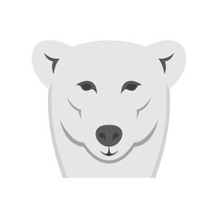 Female polar bear icon. Flat illustration of female polar bear vector icon for web isolated on white