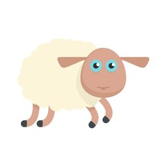 Sheep icon. Flat illustration of sheep vector icon for web isolated on white
