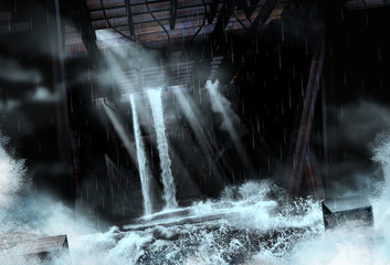 Massive Flood in Underground Setting