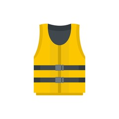 Kayak vest icon. Flat illustration of kayak vest vector icon for web isolated on white