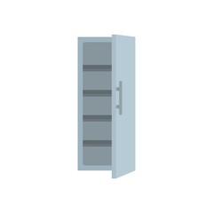 Kitchen fridge icon. Flat illustration of kitchen fridge vector icon for web isolated on white