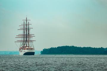Three mast sailing ship