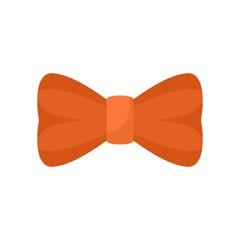 Orange bow tie icon. Flat illustration of orange bow tie vector icon for web isolated on white