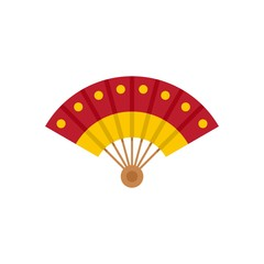 Hand fan icon. Flat illustration of hand fan vector icon for web isolated on white