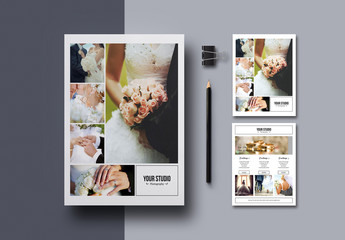Photography Price List Flyer Layout with Black Borders