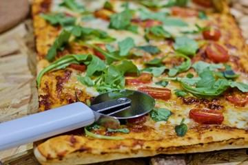 Vegetarian homemade pizza