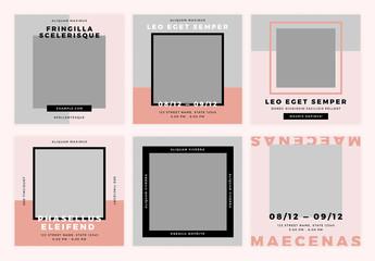 Pink Promotional Social Media Kit