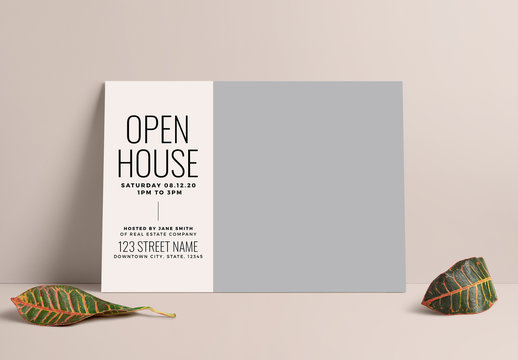 Real Estate Open House Postcard Layout