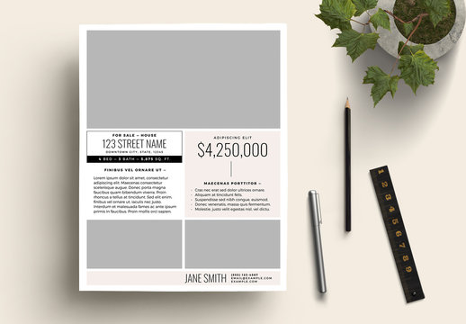 House on Sale Flyer Layout