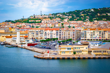 Waterfront of Sète, Languedoc-Roussillon, South France