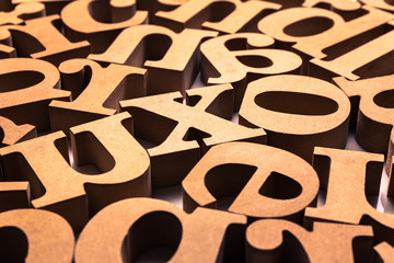 Abstract Wooden Alphabet