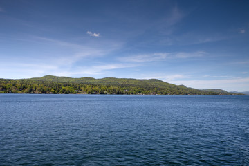 A clear day on Lake George